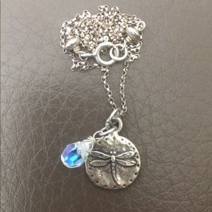 Magical Sterling Silver Dragonfly Necklace